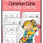 Common Core Aligned ELA Skill Checks {Kindergarten}