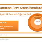 Common Core Aligned IEP Goal and Objective Bank Intermedia