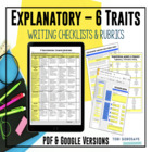 Common Core Aligned 6 Traits Explanatory Writing Rubrics f