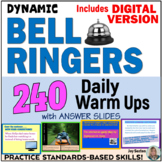 Common Core Bell Ringers - 180 Daily Warm Ups with Answer Slides