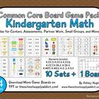 Common Core Board Game Pack {Kindergarten Math}