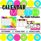 Common Core Calendar Math (Flip Chart and Editable PP)
