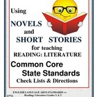Common Core Check Lists~ ELA 3,4,5 Reading: Literature Che