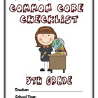 Common Core Checklist - 5th Grade - ELA