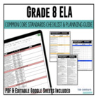 Grade 8 ELA Common Core Checklist