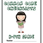 Common Core Checklist - K-5th Grade - ELA