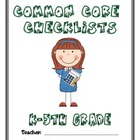 Common Core Checklist - K-5th Grade - MATH