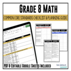 Grade 8 Mathematics Common Core Checklist