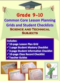 Common Core Checklists Science and Technical Standards for 9 - 10