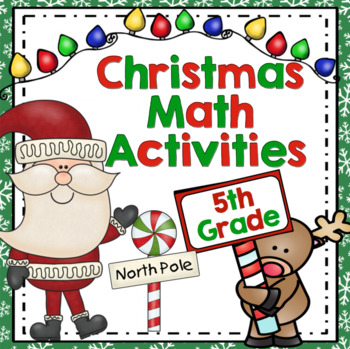 Common Core Christmas Math - 5th Grade