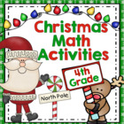 Common Core Christmas Math Games - 4th Grade