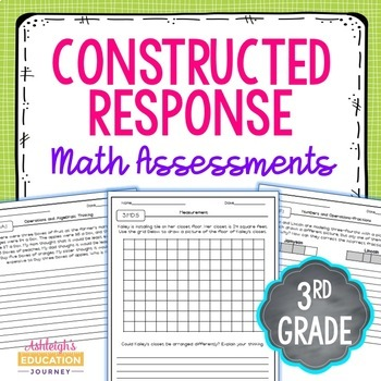 Common Core Constructed Response Math Assessments {3rd Grade}