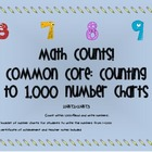 Common Core: Counting from 1 - 1,000 Number Chart Booklet