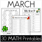 Common Core Crunch - March - MATH - CCSS Printables - Grow