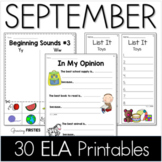 Common Core Crunch - September - ELA CCSS Printables - Gro