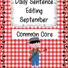 Common Core Daily Language Sentence Editing: September