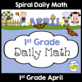 Common Core Daily Math for 1st Grade - April Edition