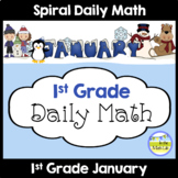 Common Core Daily Math for 1st Grade - January Edition