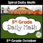 Common Core Daily Math for Fifth Grade - October Edition