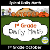 Common Core Daily Math for 1st Grade - October Edition