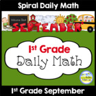 Common Core Daily Math for First Grade - September Edition