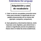 Common Core ELA 3rd Grade Posters in Spanish No Images/Graphics
