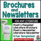 Common Core Reading: Literary Newsletters and Brochures fo