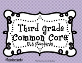 Common Core ELA Checklist and Kid Friendly 3rd Grade