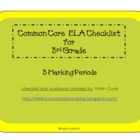 Common Core ELA Checklist for 3rd Grade – 3 Marking Periods!
