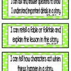 "Common Core ELA ""I Can"" Statements 2nd Grade- Colored per Strand"
