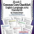 Common Core ELA Standards Checklists Grade 8