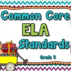 Common Core ELA Standards Posters - Grade 5 (Rainbow Colors)