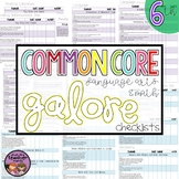 Common Core ELA and MATH Galore {6th Grade Checklist}