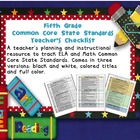 Common Core ELA and Math Checklist Combo (Fifth Grade)