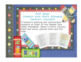 Common Core ELA and Math Checklist Combo (First Grade)