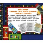 Common Core ELA and Math Checklist Combo (Third Grade)