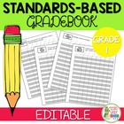Common Core Editable Standards Based Grade Book - Grade 1