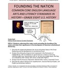 Common Core English Language Arts & Literacy for U.S. Hist