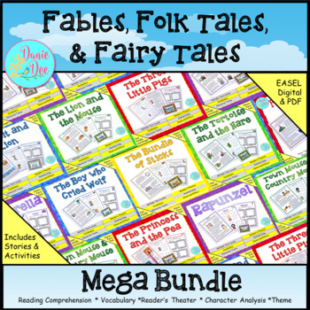 Common Core Fables and Folktales Mega Pack - 10 story texts INCLUDED!!