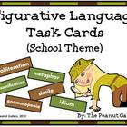 Figurative Language Scoot/Task Cards (School Theme)