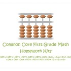 Common Core First Grade Math Homework Kits