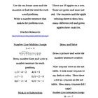 Common Core First Grade Math Menus 1.OA.1-8