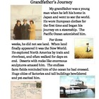 Common Core Fourth Grade Writing Topic:  Grandfather's Journey