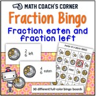 Common Core: Fraction Pizza Bingo--What's Eaten and What's Left?