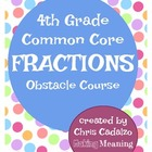 Common Core Fractions Review Obstacle Course- 4th grade