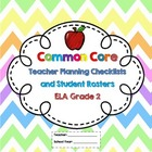 2nd Grade Common Core ELA Checklists and Student Rosters