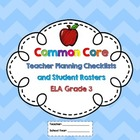 3rd Grade Common Core ELA Checklists and Student Rosters