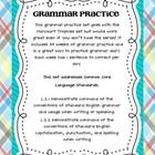 Common Core Grammar Practice- 1st Grade