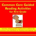 Common Core Guided Reading Activities for First Grade - In