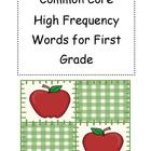 Common Core High Frequency/Sight Word Cards for the School Year